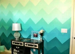 chevron-wall-ombre-paint